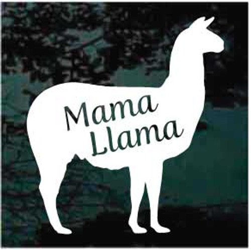Mama Llama Window Decal