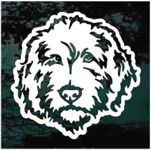 Labradoodle Head Window Decal