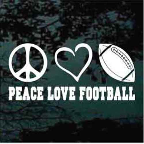 Peace Love Football Decals