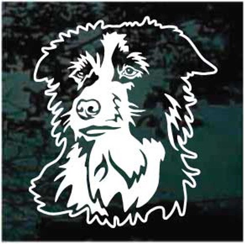 Detailed Border Collie Window Decal