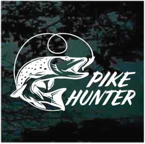 Northern Pike Hunter Window Decal