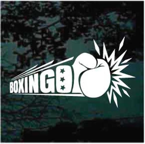 Boxing Logo Window Decals