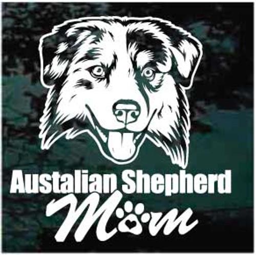 Australian Shepherd Mom Decals