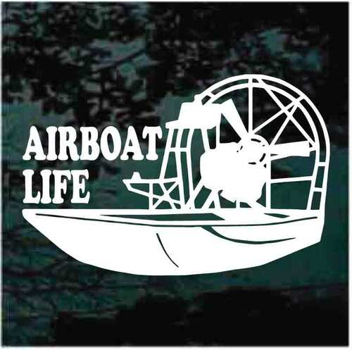 Airboat Life Window Decals