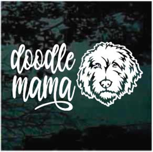 Doodle Mama Labradoodle Window Decal