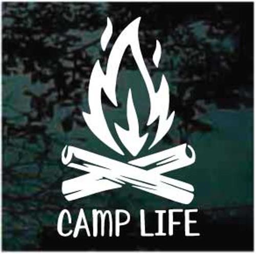 Camp Fire Camp Life Window Decal
