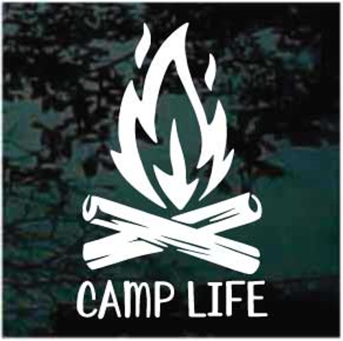 Camp Fire Camp Life Decals