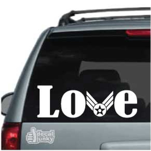 Air Force Love Car Decal