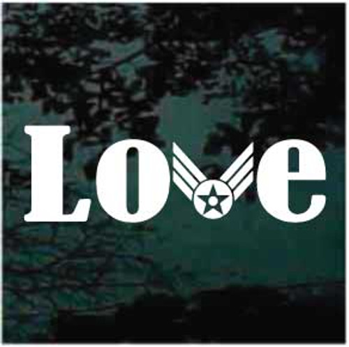Air Force Love Window Decals