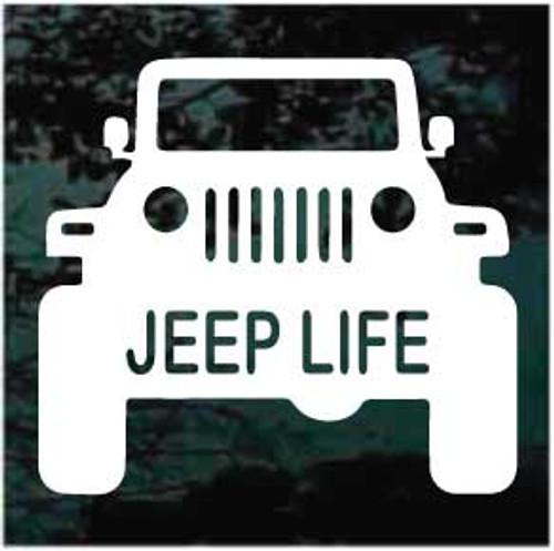 Jeep Life Window Decal