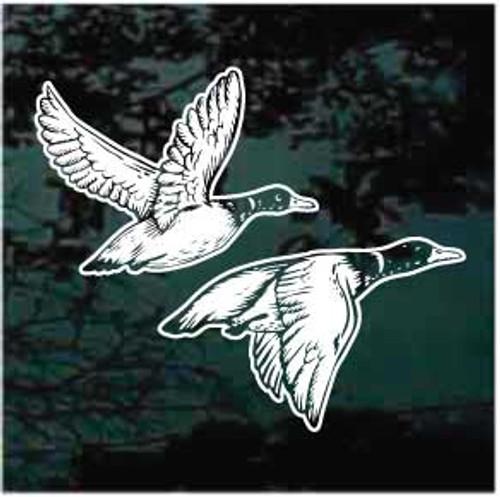 Wild Ducks Flying Window Decals