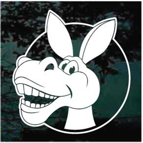 Cartoon Donkey Head Window Decals