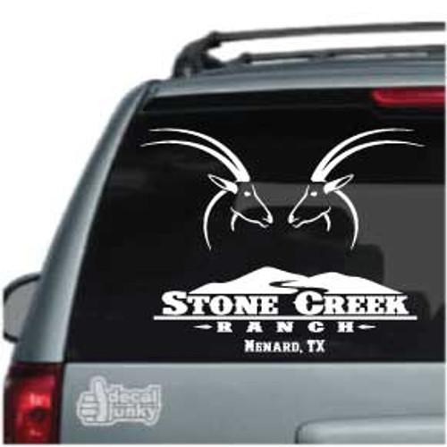 Stone Creek Ranch Menard TX Custom Car Decals