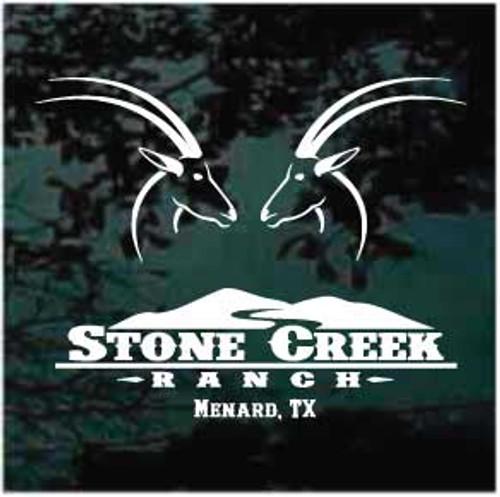 Stone Creek Ranch Menard TX Custom Window Decals