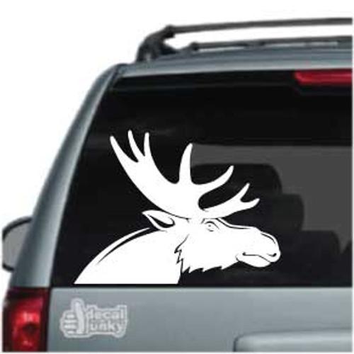 Solid Moose Head Car Decals