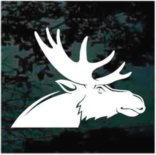 Solid Moose Head Window Decals