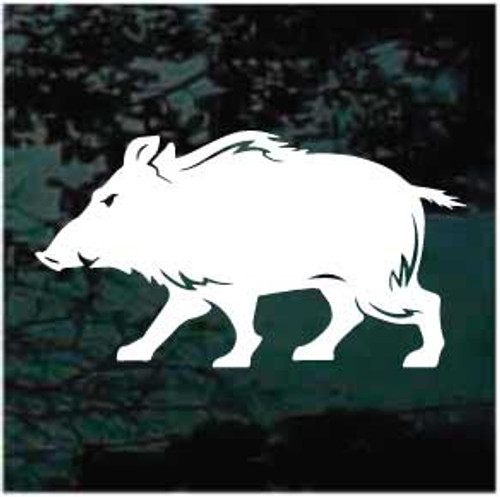 Hog Hunting Decals & Car Window Stickers Personalized