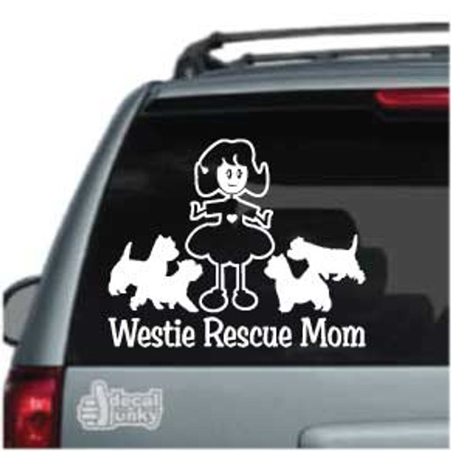 Westie Rescue Mom Car Decals