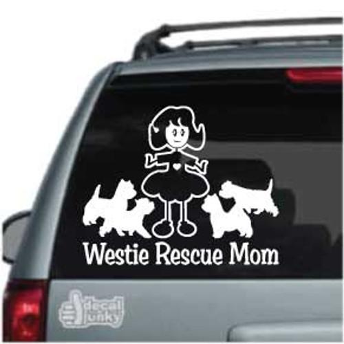 Westie Rescue Mom Car Decals
