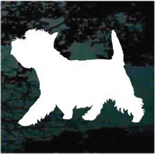 Westie Gait Silhouette Window Decals