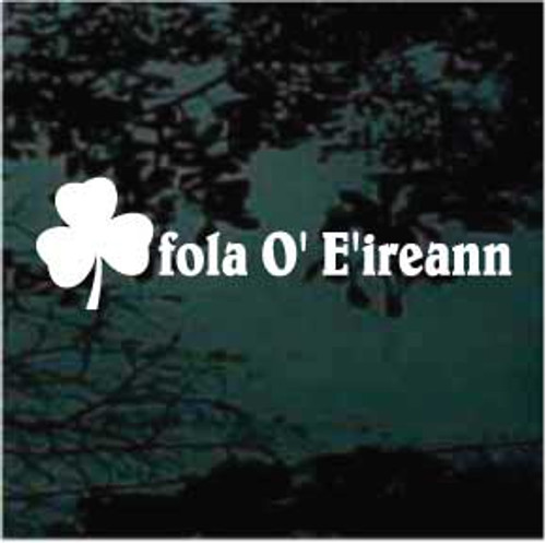 fola O' E'ireann Window Decals