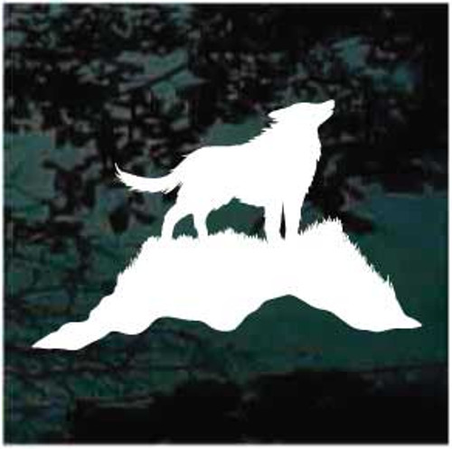 Wolf In The Wind Decals