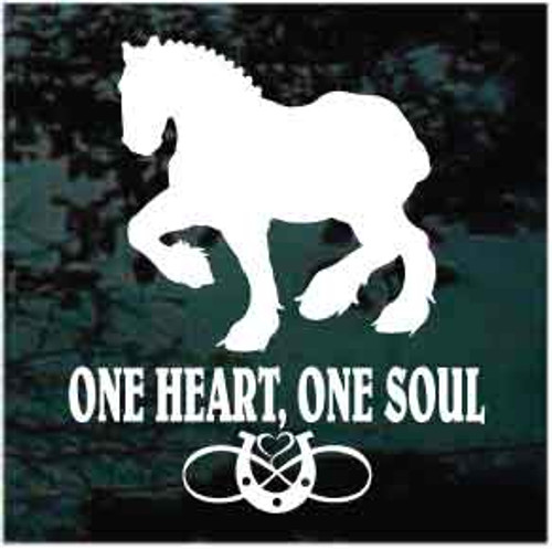 Clydesdale One Heart One Soul Decals