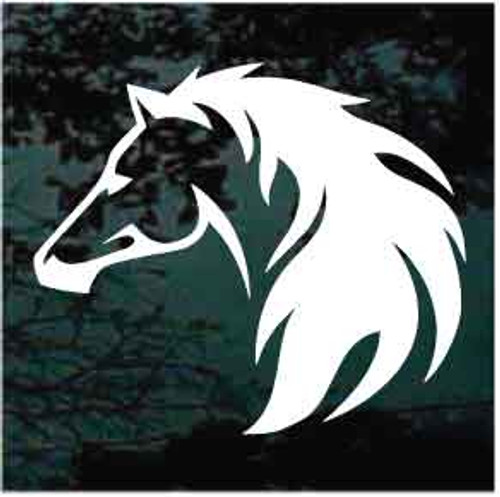 Horse Head On Fire Decals