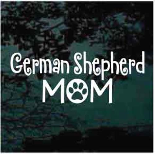 German Shepherd Mom Decals
