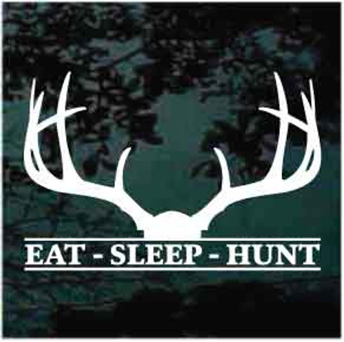 Eat Sleep Hunt Deer Antlers Decals