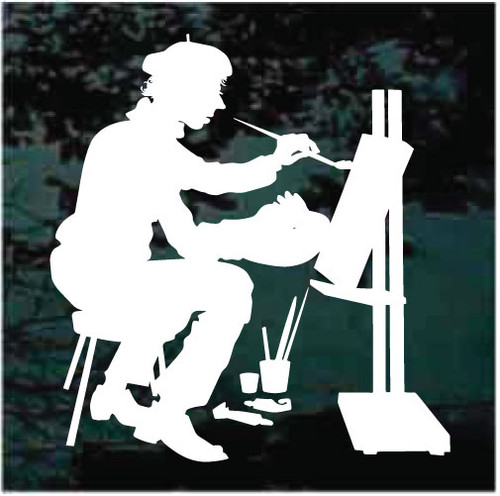 Artist Painting Decals