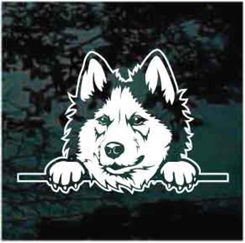 Siberian Husky Peeking Decals