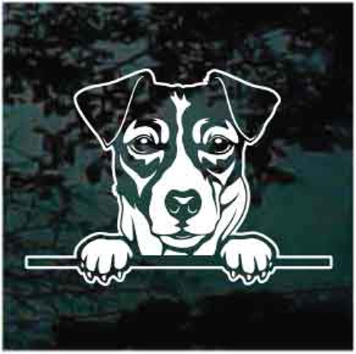 Jack Russell Terrier Peeking Decals