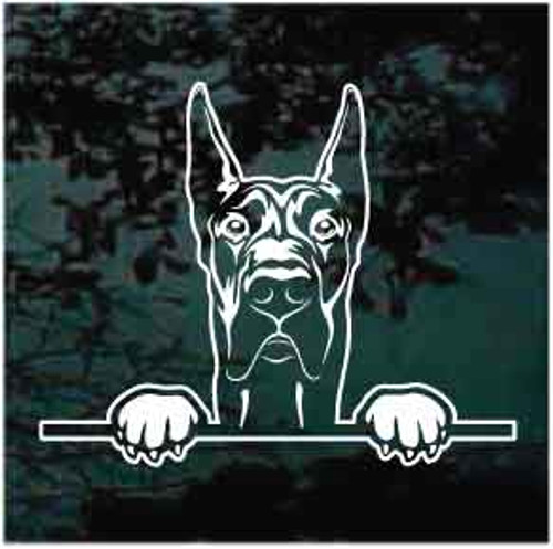 Peeking Great Dane Decals
