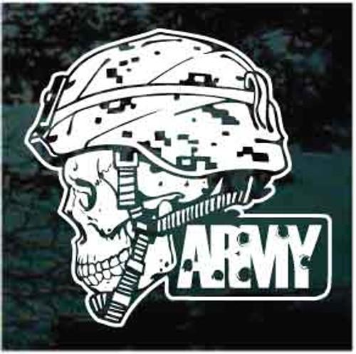 Army Soldier Skull Window Decals