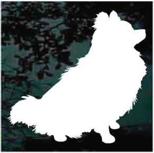 Pomeranian Sitting Decals