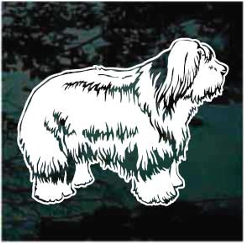 Lovely Old English Sheepdog Window Decals