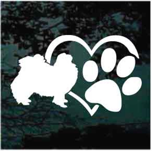 Japanese Chin Heart Paw Decals