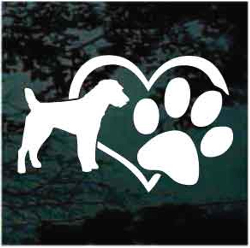 Jack Russell Heart Paw Decals