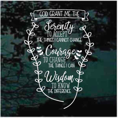 Serenity Prayer Decals