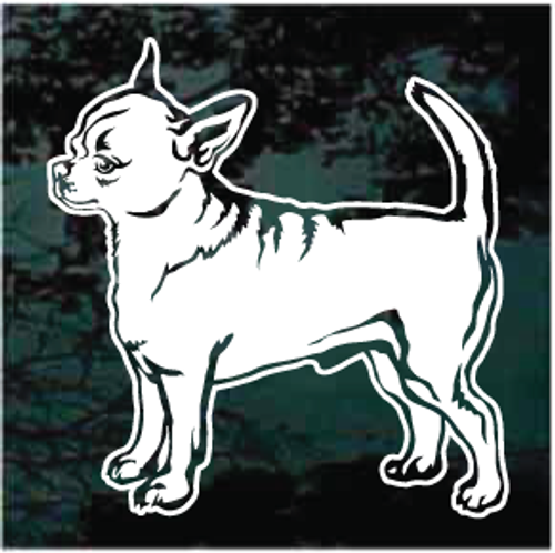 Cute Short Haired Chihuahua Dog Decals