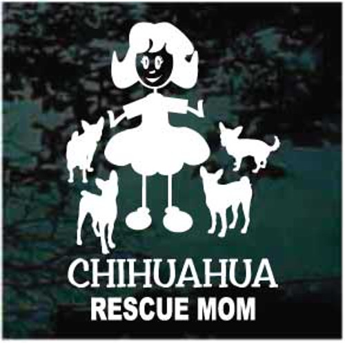 Chihuahua Rescue Mom Window Decals