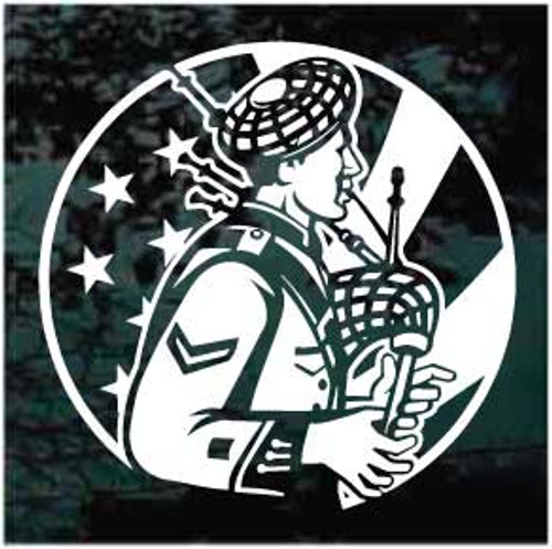 American Bagpipes Player Window Decals
