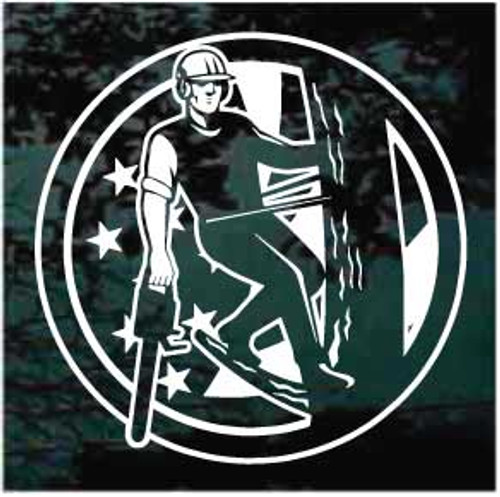 American Tree Cutter Window Decals