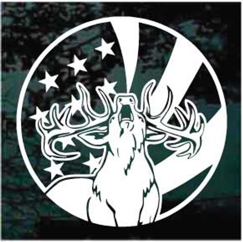 American Elk Window Decals