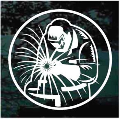 Round Welder Welding Logo Decals
