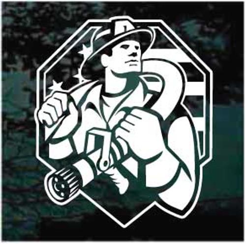 American Firefighter Window Decals