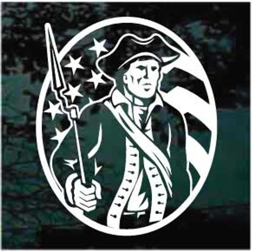 American Patriot Minuteman Window Decals