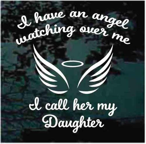 Angel Daughter Watching Over Me Memorial Window Decals