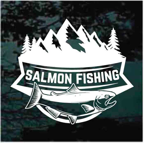 Salmon Fishing Banner Decals